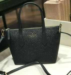Kate Spade Joeley Glitter Small Satchel Crossbody